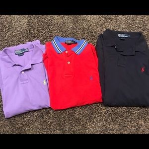 Polo Ralph Lauren polos s/s shirts Large lot of 3